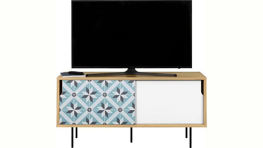 andas Sideboard »Dann«, aus Massivholz mit Sternenmusterfronten, Breite 135 cm