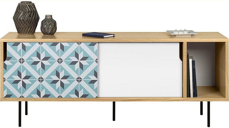 andas Sideboard »Dann«, aus Massivholz mit Sternenmusterfronten, Breite 165 cm