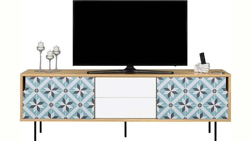 andas Sideboard »Dann«, aus Massivholz mit Sternenmusterfronten, Breite 201 cm