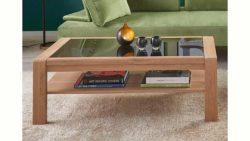 massivraum® Couchtisch »DERVIO« aus Massivholz, mit Ablage, in 2 Größen