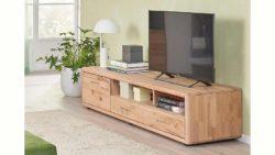 massivraum® Lowboard »DERVIO« aus Massivholz, mit zwei Schubladen und zwei Nischen, Breite 188 cm