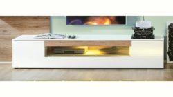 set one by Musterring Lowboard »arizona«, Hochglanz, Glasausschnitt mittig, Breite 205 cm