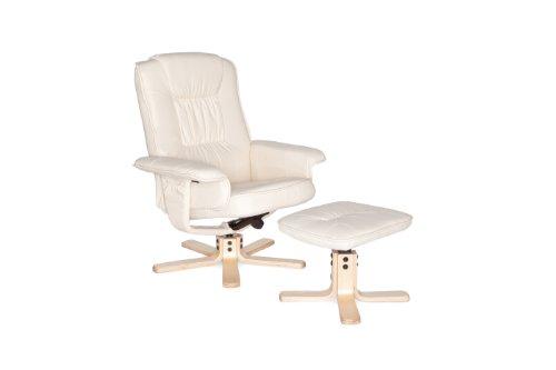 AMSTYLE Comfort XXL Relaxsessel mit Fußauflage in Leder Optik TV Fernsehsessel