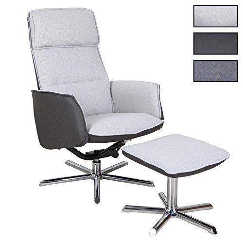CARO-Möbel Relaxsessel Reno Fernsehsessel TV Sessel mit Hocker, inkl. Liegefunktion in 3 Farben