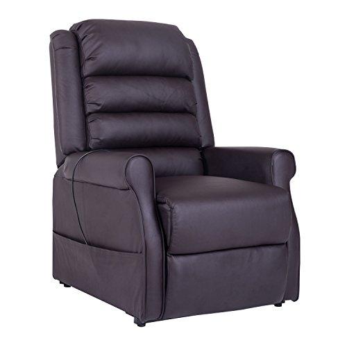 HOMCOM Elektrischer Fernsehsessel Aufstehsessel Relaxsessel Sessel mit Motor und Aufstehlhilfe Braun