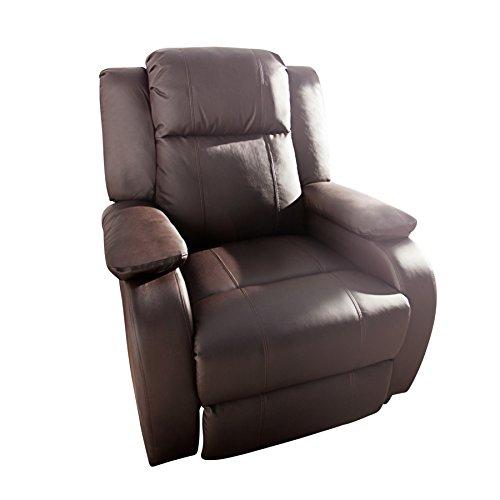Invicta Interior Moderner Relaxsessel Hollywood Kunstleder Braun Coffee Verstellbar Liegesessel Sessel Fernsehsessel Wohnzimmer mit Liegefunktion