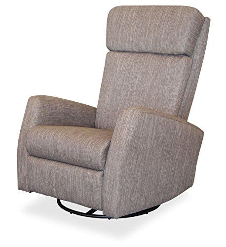 KMH®, Fernsehsessel / Relaxsessel *Fjon* - grau (drehbar/ verstellbar) (#204615)