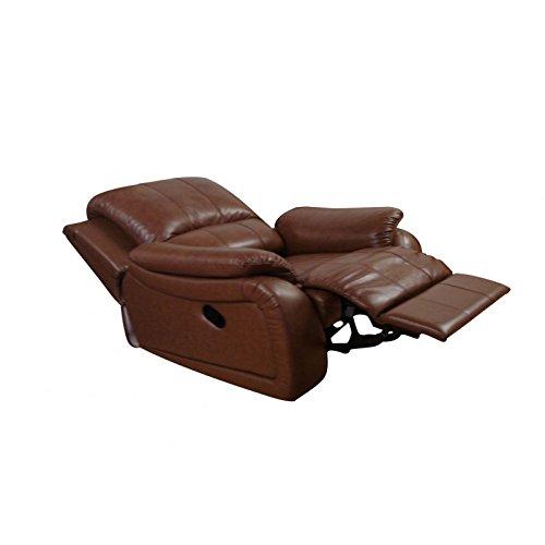 Leder Relaxsessel Fernsehsessel Schlafsessel Bettsessel 5129-1-08