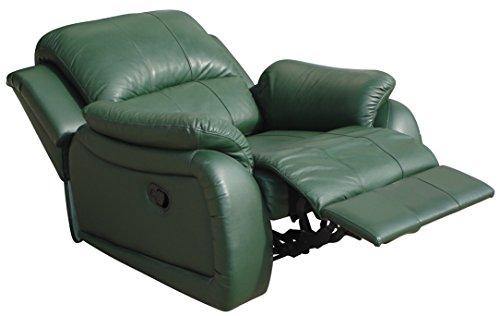 Leder Schlafsessel Bettsessel Relaxsessel Fernsehsessel 5129-1-grün