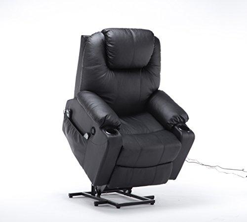 MCombo Elektrisch Aufstehhilfe Fernsehsessel Relaxsessel Massage Heizung elektrisch verstellbar USB Anschluss