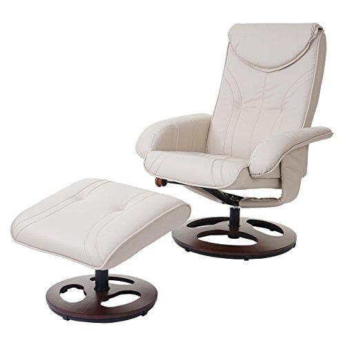 Mendler Relaxsessel HWC-C46, Fernsehsessel Sessel mit Hocker, Kunstleder