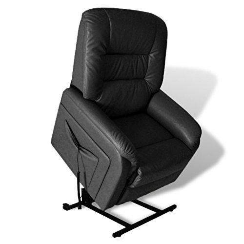 vidaXL Fernsehsessel Elektrisch Relaxsessel Aufstehsessel + Aufstehhilfe schwarz / weiß