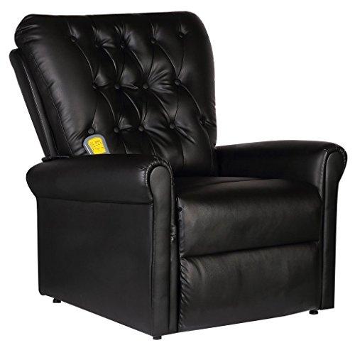 vidaXL Massagesessel Relaxsessel Fernsehsessel Massage TV Sessel elektrisch + Heizung