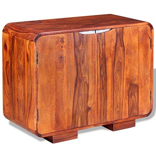 vidaXL Sideboard Anrichte Schrank Massives Kommode Sheesham-Holz 75 x 35 x 60 cm
