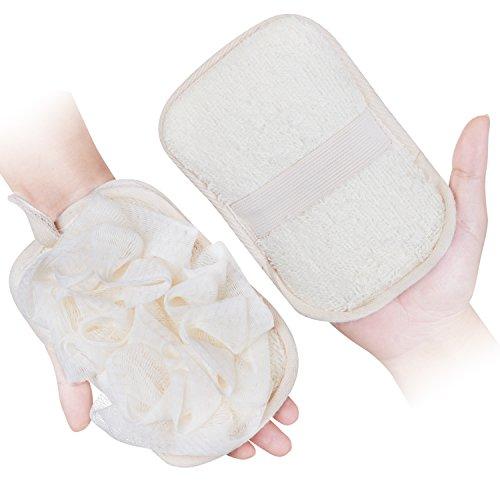 Bad Handschuhe für Frauen 1Pack, Luffa-Bürste Pouf Mesh Pinsel, indem mikimini