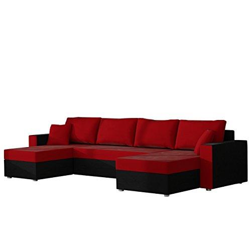Mirjan24  Ecksofa Sofa Couchgarnitur Couch Rumba Style! Wohnlandschaft mit Schlaffunktion und Bettkasten, Ecksofa in U-Form, Polstermöbel, Farbauswahl, Kissen-Set