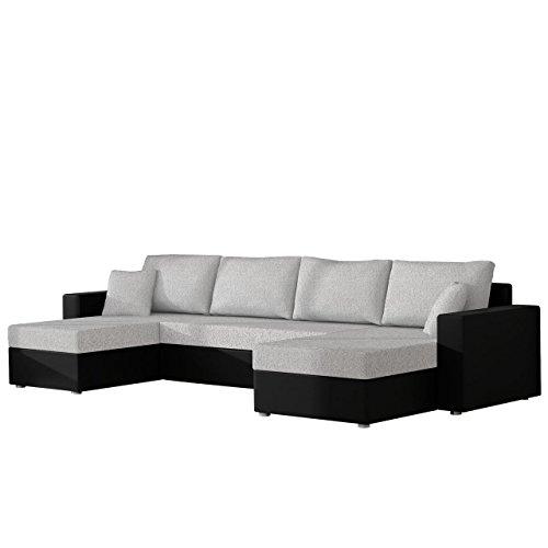 Mirjan24  Ecksofa Sofa Couchgarnitur Couch Rumba! Wohnlandschaft mit Schlaffunktion und Bettkasten, Ecksofa in U-Form, Polstermöbel, Farbauswahl, Kissen-Set