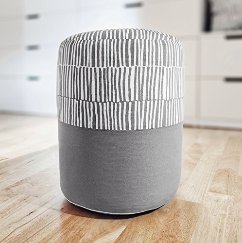 PILL - ZEBRA: Pouf, Fußbank, Fußstütze - Inspiriert von IKEA gestreiftem Stoff VENDLA