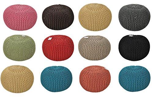 Premium Design Pouffe / Details zu Pouffe Pouf Strick Strickhocker Fußbank Sitzpouf Handmade viele Farben & Größen