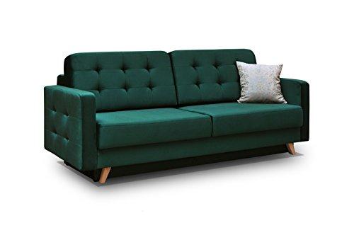 Schlafsofa Kippsofa Sofa mit Schlaffunktion Klappsofa Bettfunktion mit Bettkasten Couchgarnitur Couch Sofagarnitur - CARLA