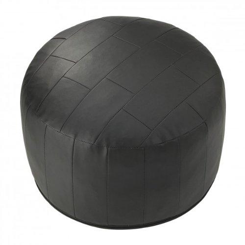 Sitzkissen Pouf Fußhocker 100% Kunstleder Farbe:schwarz Größe:50x34cm (BxH) 76090159090