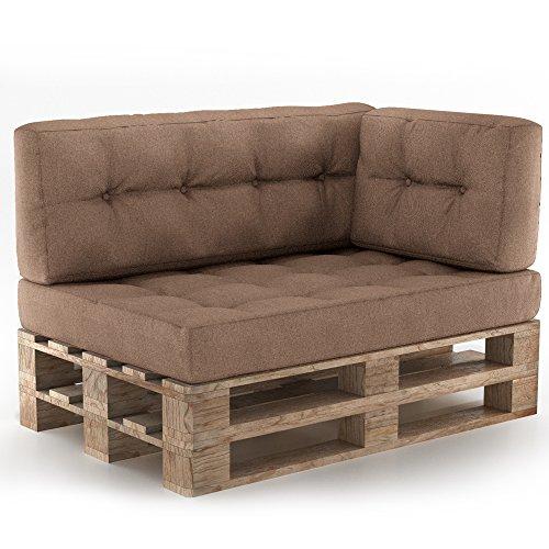 Vicco Palettenkissen Palettenmöbel Ecksofa Couch Sitzecke inkl. Europalette Palettensofa Palettenpolster Kissen Sofa Polster Indoor Outdoor