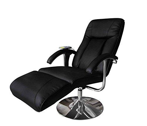 vidaXL Massagesessel TV Sessel Relaxsessel Fernsehsessel Massage+Heizung SCHWARZ