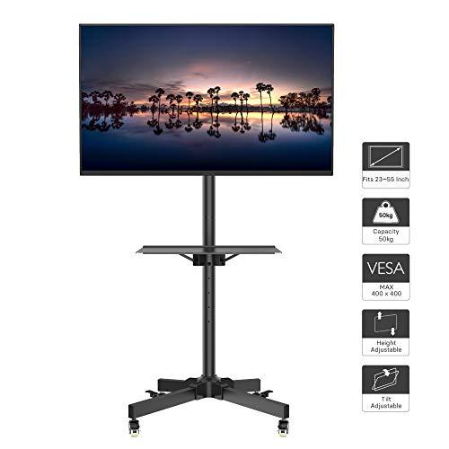 1home LCD/LED TV Fernseher Ständer Stand Fernsehtisch Standfuss Glas Standfuß