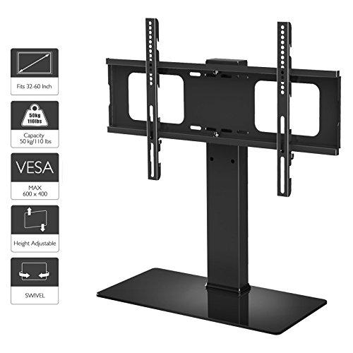 1home LCD/LED TV Ständer Fernsehtisch Standfuss Glas Standfuß Halterung Ständer