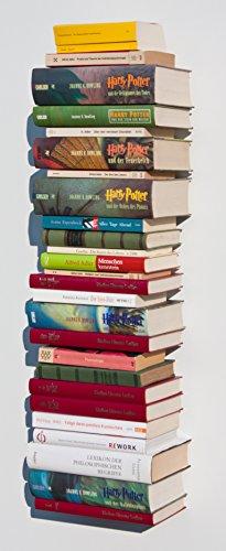 1x Bücherturm unsichtbares Regal Geschenk Idee clever Neuheit Geburtstag Loft