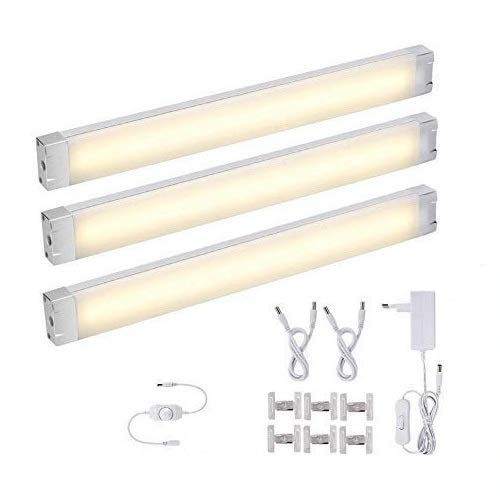 3er LED Unterbauleuchte Küche