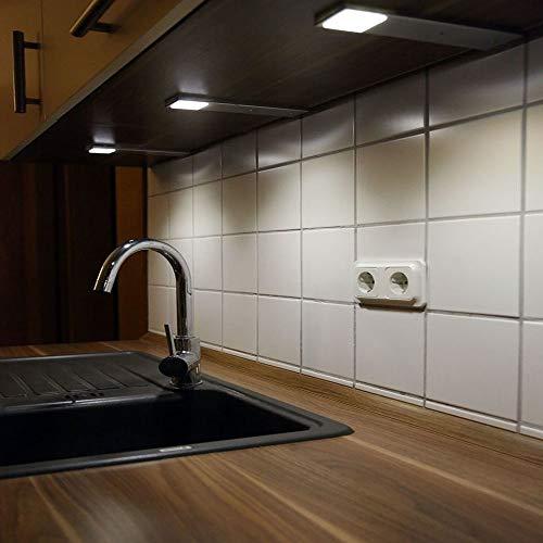 ACCE LED Unterbauleuchte Küchen Möbel Leuchte Warmweiß inkl Konverter ein Strahler mit Schalter Energieeffizienzklasse A++