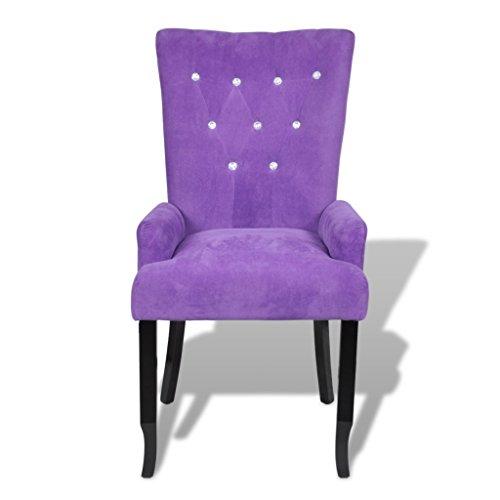 Anself Polsterstuhl Esszimmerstuhl Design Stuhl Esszimmersessel mit Armlehnen 3 Farbe Optional