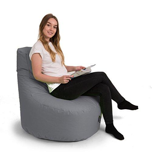 BuBiBag Gamer Kissen XXL Lounge Sitzsack Sessel original Sitzkissen In & Outdoor geeignet fertig befüllt in 32 Farben