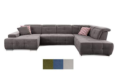 CAVADORE Wohnlandschaft Mistrel/Sofa U-Form mit Kopfteilfunktion