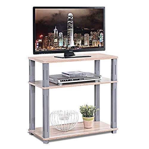 COSTWAY Fernsehtisch, TV Möbel Regal Tisch Schrank, Fernsehschrank, Sideboard, 3 Ablagen