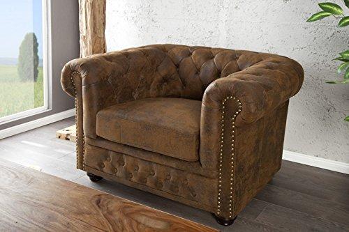 Casa Padrino Chesterfield Sessel Antikbraun aus dem Hause Lounge Sessel Antik Braun