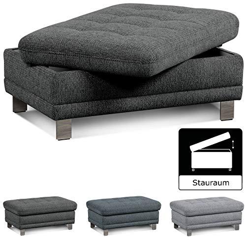 """Cavadore Sofa-Hocker """"Imit"""" mit Stauraum / Praktischer Beistellhocker, Sitzhocker, Polsterhocker mit Stauraum"""