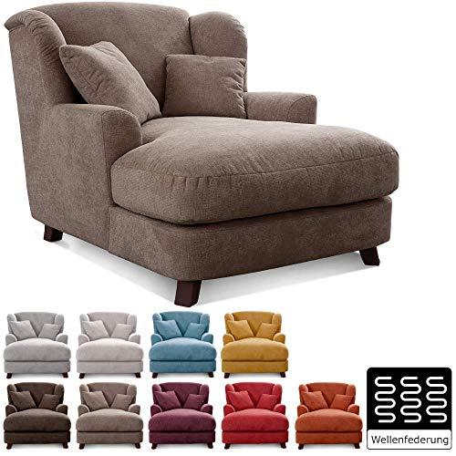 Cavadore XXL-Sessel Assado / Großer Polstersessel in großer Sitzfläche, Polsterung und 2 weichen Zierkissen