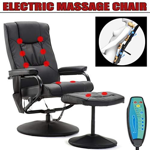 Elektrisch Massage Sessel mit Hocker Relaxsessel Fernsehsessel Polstersessel 360 Grad drehbar, Relax Sessel Drehsessel Massagesessel Stuhl