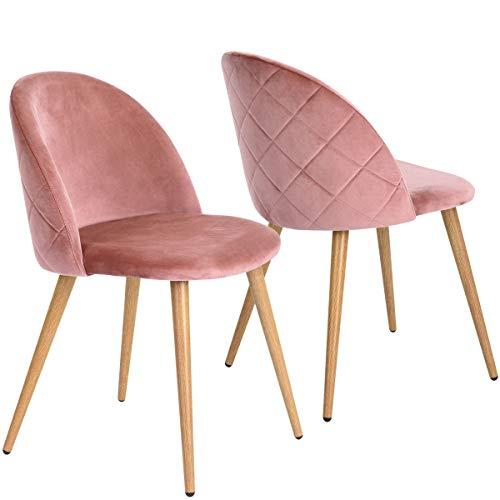 Esszimmerstühle 2er Set mit Metallbein
