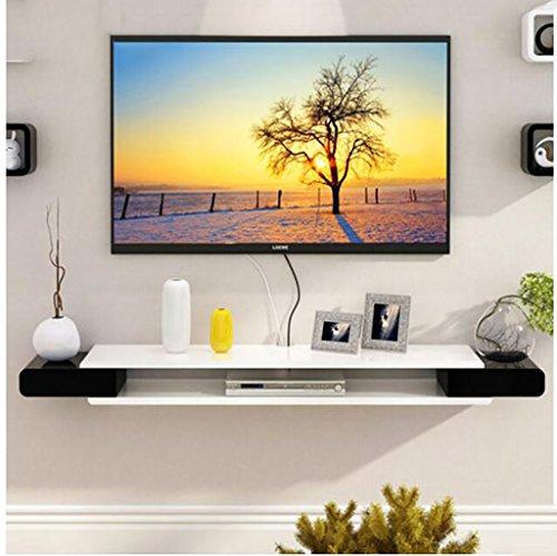 FAFZ Wandregal TV-Schrank-Set - Top-Box Regale Wohnzimmer TV Wand Hintergrund Wand Hängende Schlafzimmer Trennwände Wanddekoration Wandhalterung Ablage