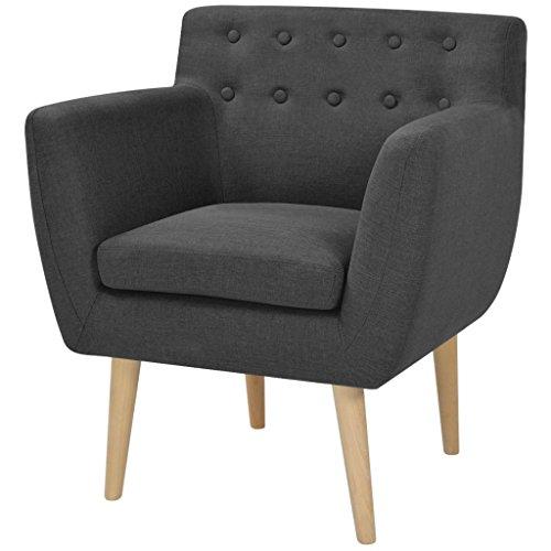Festnight Armsessel Armsessel Wohnzimmer Sessel Relaxsessel Polstersessel Stoffpolsterung 67 x 59 x 77 cm Dunkelgrau