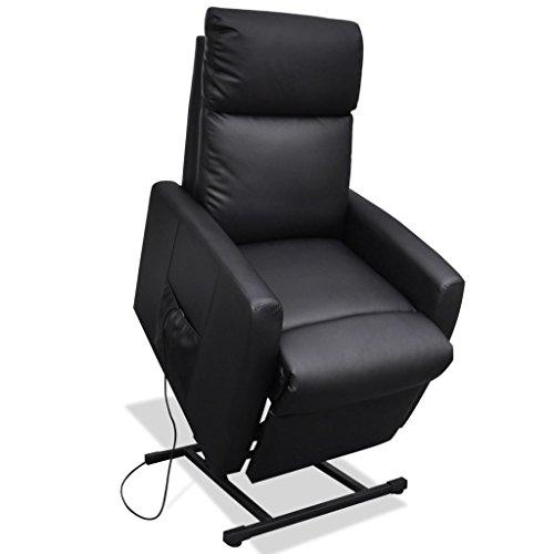 Festnight Fernsehsessel Aufstehsessel TV Sessel mit elektrischer Aufstehhilfe Schwarz