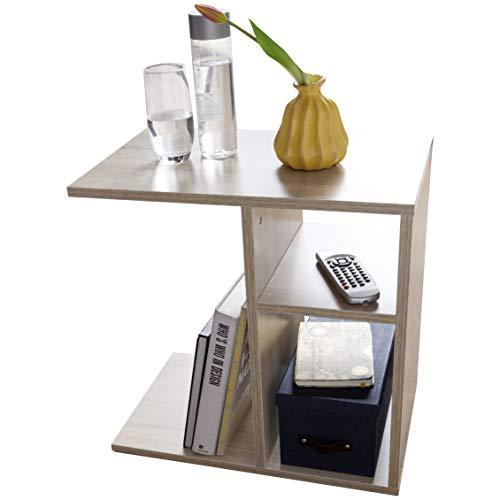 FineBuy Beistelltisch NILO 50x50x30 cm Holz Design Anstelltisch Sofa | Couchtisch klein modern | Kleiner Wohnzimmertisch eckig | Sofatisch Ablagetisch hoch | Schmaler Tisch Wohnzimmer