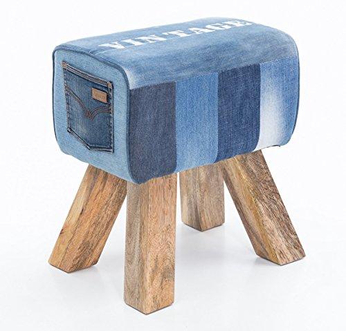 FineBuy Design Turnbock Sitzhocker 40 x 30 x 47 cm | Turnhocker Hocker | Beistellhocker Fußhocker