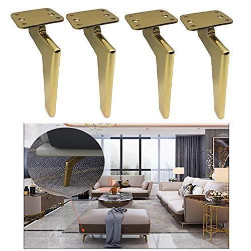 Furniture legs (foot) Metallschrank FüßE, Sofa Couchtisch MöBelbeine, Schwarz Tv-MöBel Weinschrank StüTzfuß, Hardware-ZubehöR (18cm)