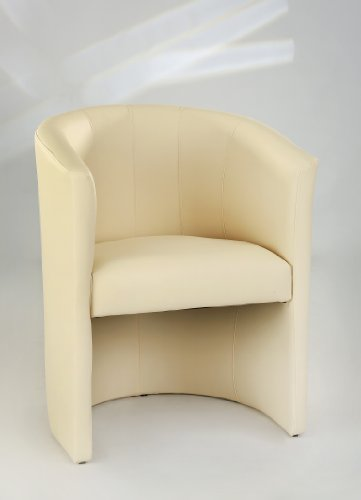 H&S Design Cocktailsessel Sessel Clubsessel Loungesessel Club Möbel Bürosessel Praxismöbel Creme