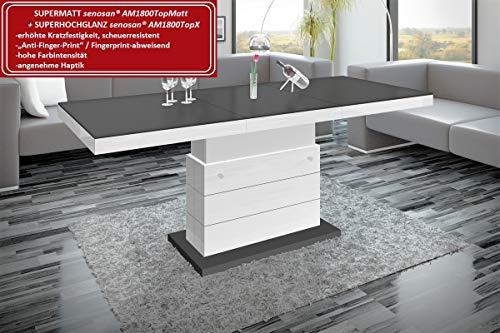 HU Design Couchtisch Matera Lux H-333 Hochglanz und Matt höhenverstellbar ausziehbar Wohnzimmertisch