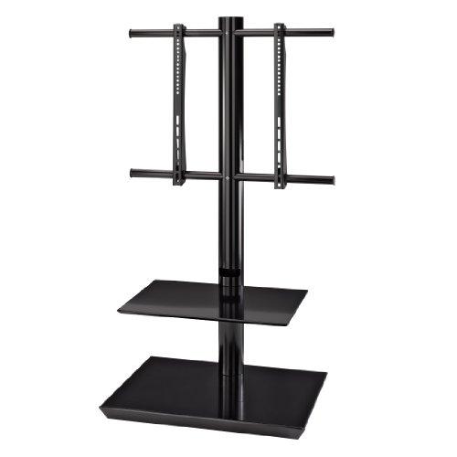 Hama TV-Bodenstand mit 2 Ablagen, für 81 - 140 cm Diagonale (32 Zoll - 55 Zoll), VESA bis 600 x 400, für max. 40 kg, schwarz